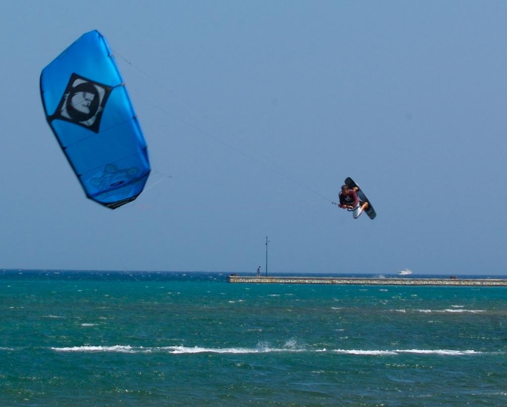 Kite looping the 2009 nano during testing