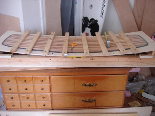 core glue up clamped to table.JPG