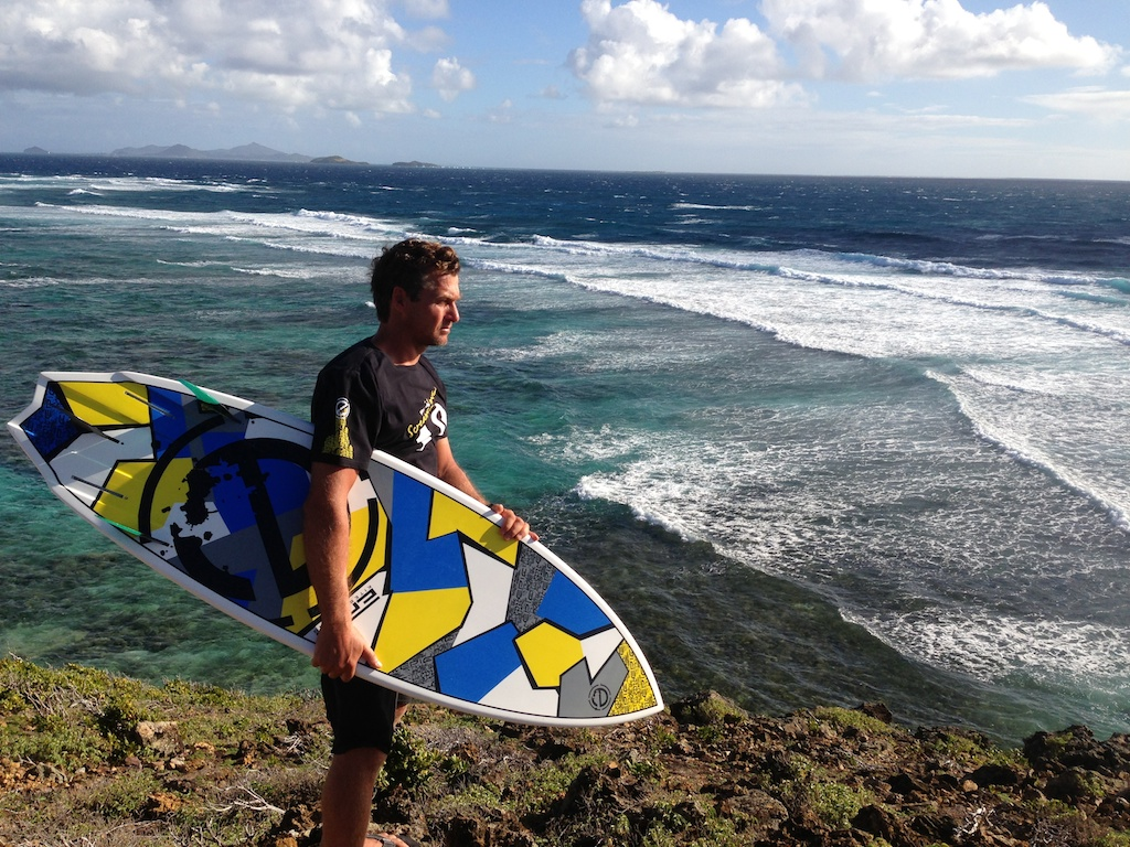 Dimitri checking the surf in Palm Island.jpg