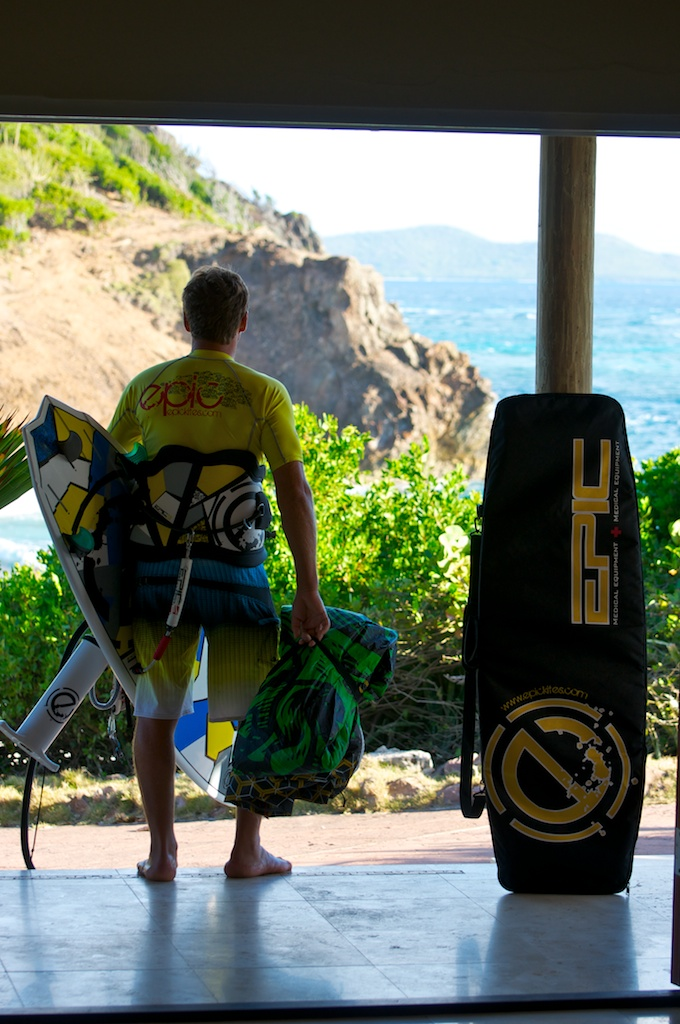 7.30 am Dimitri on the move for some surf action.jpg