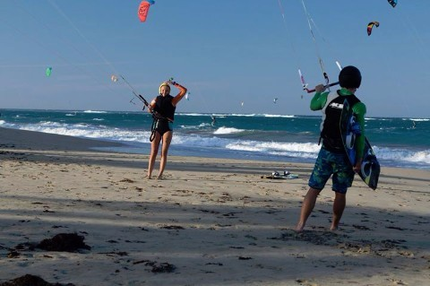 Two Kiters on Land at the Same Time.jpg